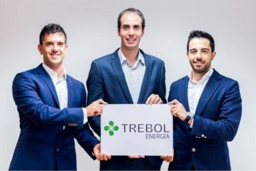 Els tres socis fundadors de Trébol Energía