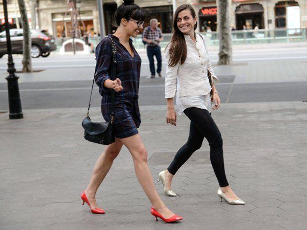 Úrsula Ponce ha creat un calçat femení que ja llueixen moltes dones durant les llargues jornades laborals