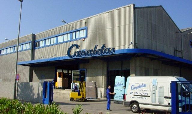 La fàbrica de Canaletas al Prat de Llobregat
