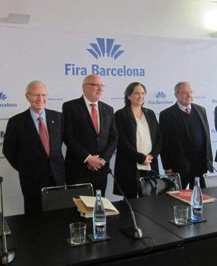 La cúpula de Fira de Barcelona durant la presentació dels resultats d'enguany