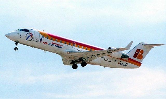 Un avió de la companyia Air Nostrum que ara connectarà València i Barcelona