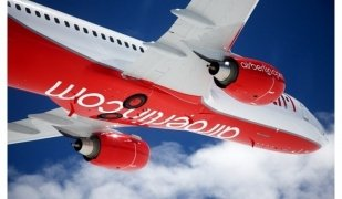 Un dels avions d'airberlin