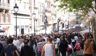 El carrer comercial del Portal de l'Àngel de Barcelona