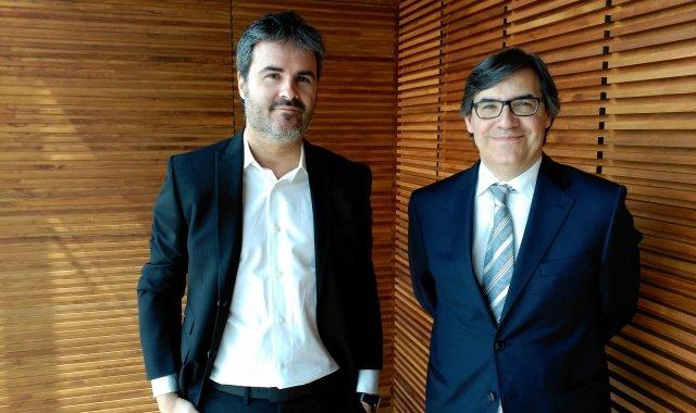 Els dos socis de Tecnoquark, Manel Mauri i Carlos Soler