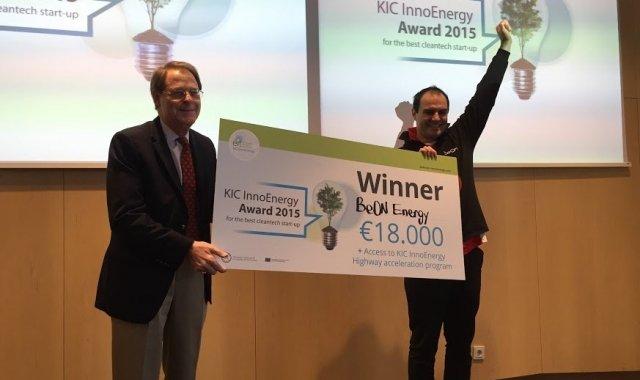 Imatge de l'entrega de premis del KIC InnoEnergy Award el 2015