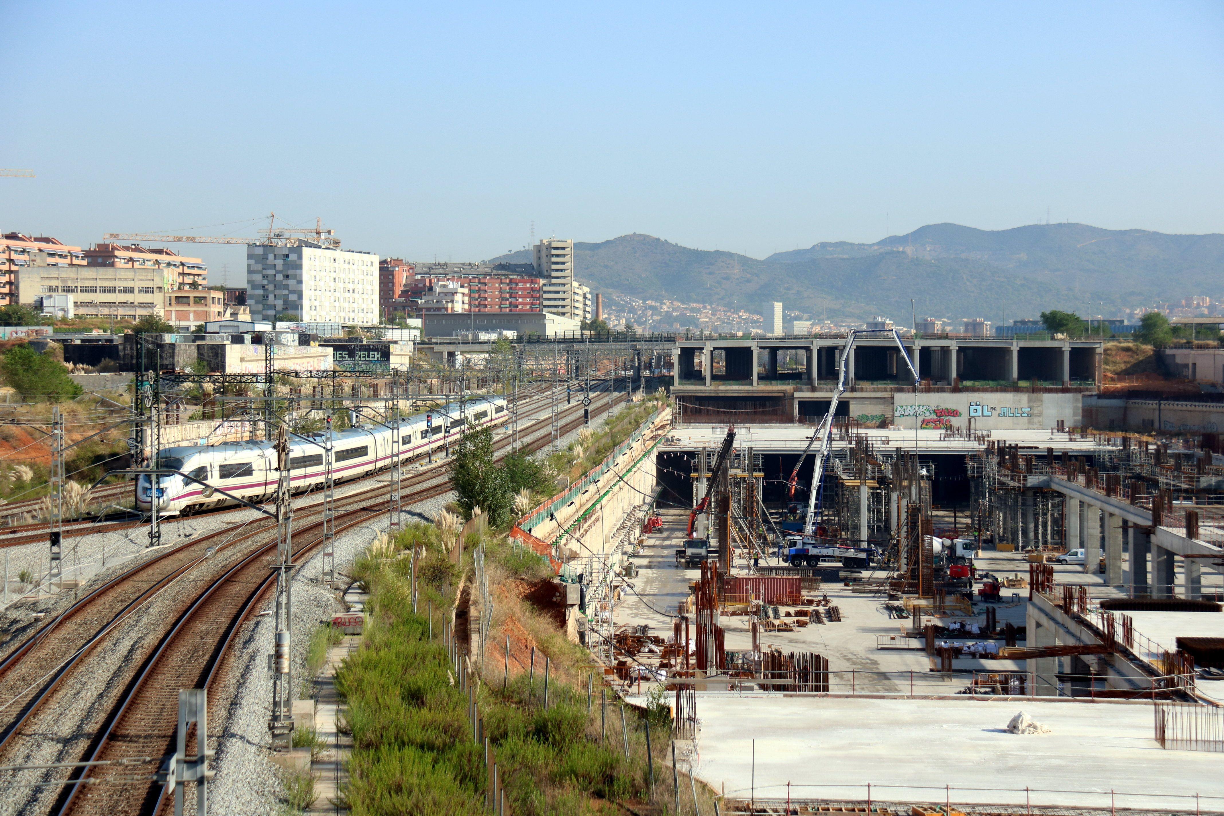 Les travaux de la gare Sagrera de Barcelone atteignent 40% de leur achèvement. | ACN