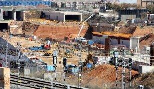 Les obres de l'estació de la Sagrera acumulen anys d'endarreriments