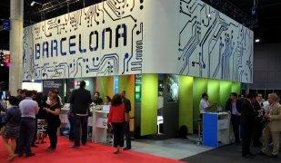 Imatge de l'estand de Barcelona a la fira IOT Solutions World Congress 2015