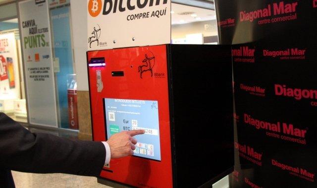 El caixer Bitcoin de Diagonal Mar va ser el primer en instal·lar-se a l'Estat espanyol