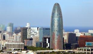 La popular torre Agbar de Barcelona