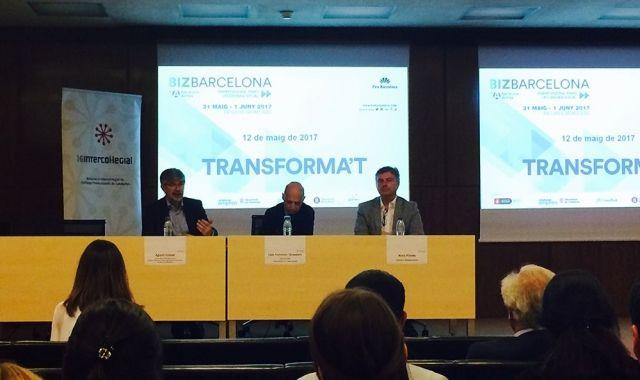 Agustí Colom, Lluís Comerón i Aleix Planas han presentat les darreres novetats del Bizbarcelona 2017