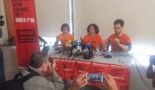 Roda de premsa de presentació del Sindicat de Llogaters