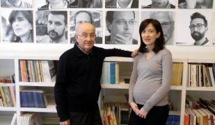 Lluís Pagès i Eulàlia Pagès, fundador i directora de l'editorial lleidatana