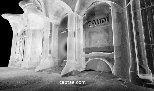 L'escàner de la façana de la Casa Batlló fet per Captae