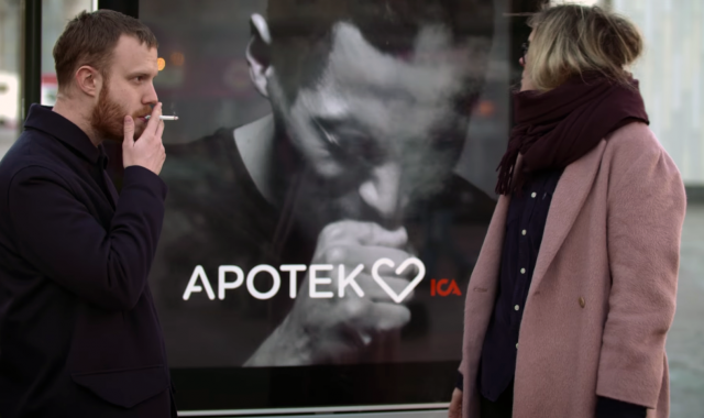 Campaign of the pharmaceutical company, Apotek, which specialises in products for quitting smoking
