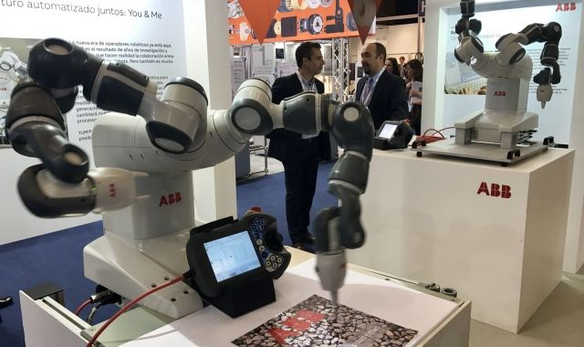ABB markets a robot for industry with two arms