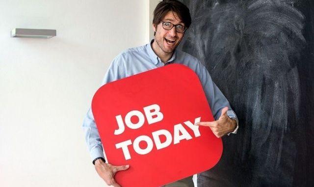 Sergio Balcells a les oficines de Job Today a Barcelona