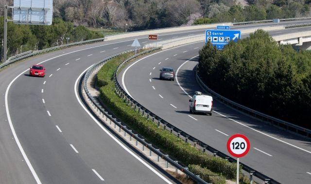 L'autopista c-32 a l'altura de Cubelles