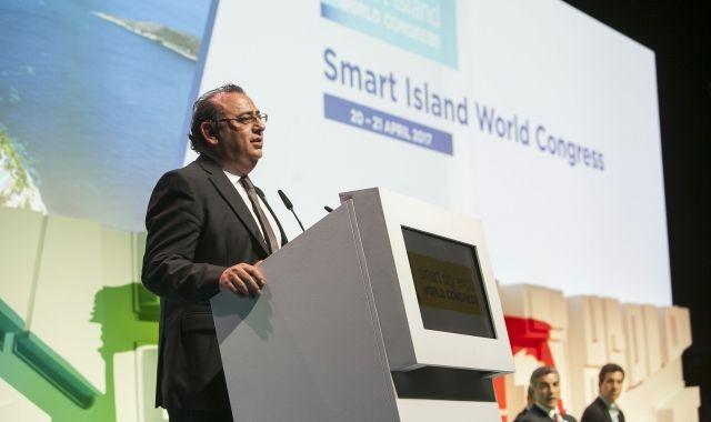 Alfonso Rodríguez, alcalde de Calvià, durant la presentació del SIWIC