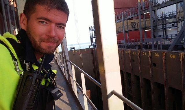 Gabriel Jiménez és estibador al Port de Barcelona