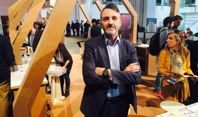 Javier Jiménez Marco, director general de Lanzadera, a l'estand de l'acceleradora al 4YFN