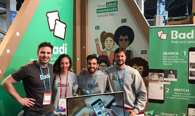 The team at their stand at the 4YFN