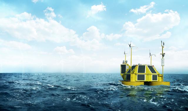 Una estació d'energia eòlica marina com les que treballa la firma Eolos