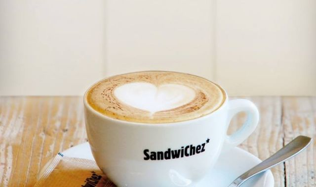The SandwiChez cappuccino is one of their distinctive products