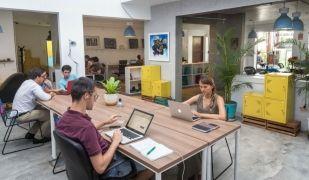 La plataforma compta amb espais de 'coworking' per 15 euros/hora