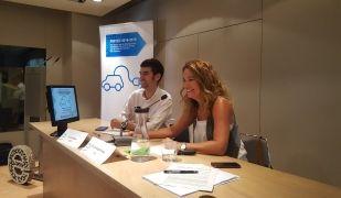 Lluís Moner i Assumpta Farran (Icaen) en roda de premsa