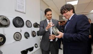 El president Puigdemont a l'empresa AAB Powertrain
