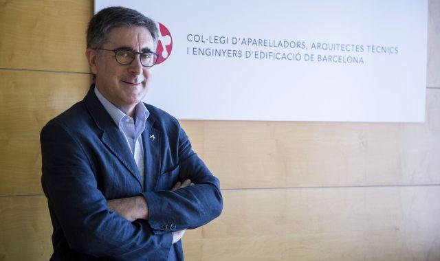 Jordi Gosalves és el president del Col·legi d'Aparelladors de Barcelona   Àngel Bravo
