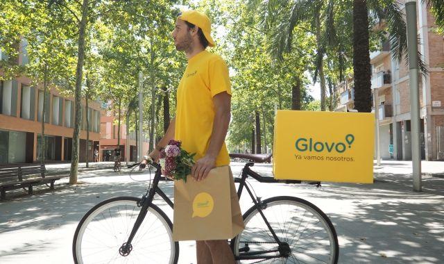 Un dels 'riders' de Glovo