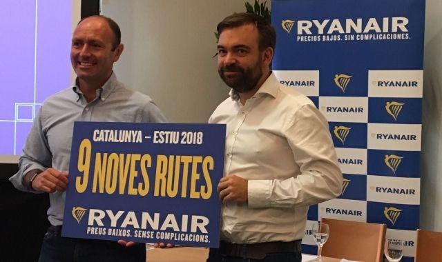 Ryanair incorporarà noves rutes als tres principals aeroports catalans