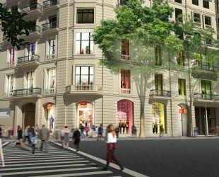 Imatge de com serà la botiga d'Uniqlo a Barcelona