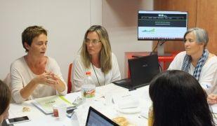 Viler, Fornés i Vàzquez, en la presentació del Baròmetre de la Fundació Factor Humà. | Cedida