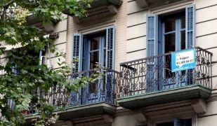 Un pis de lloguer, el passat mes d'abril a Barcelona
