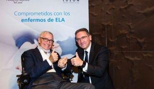 Francisco Luzón i Jaume Giró signen un acord de col·laboració contra l'ELA