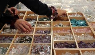 Imatge d'algunes de les pedres preciosses que es podran veure a l'Expominer