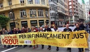 Manifestació a València el passat 29 d'abril per demanar un finançament més just | ACPV