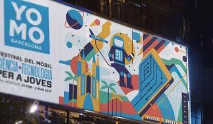Un cartell que anuncia el YoMo