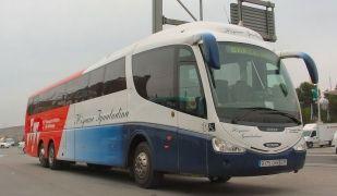 Un dels autobusos de la Hispano Igualadina