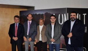 Els representants dels signants del manifest a Sant Feliu de Llobregat