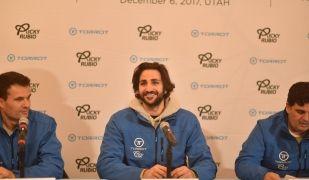 Iván Contreras, Ricky Rubio i Rafael Contreras, a la presentació | Torrot