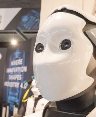Un robot a la fira Advanced Factories