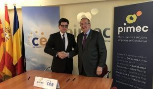 Xavier Altimir, president de la CEA, i Josep González, president de Pimec | Cedida