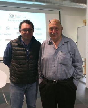 Aleix Valls i Yossi Vardi al Pier 01 de Barcelona Tech City | Cedida